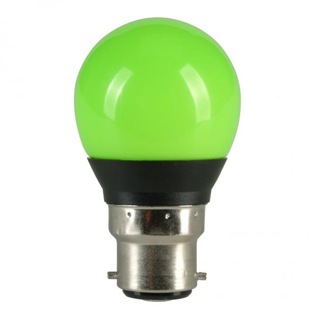 LED Kronepære B22, 2Watt Farvet pære